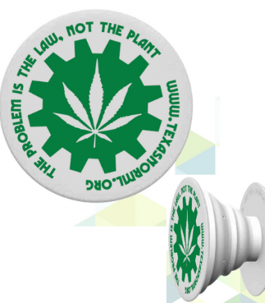 Popsocket with leaf and gear logo